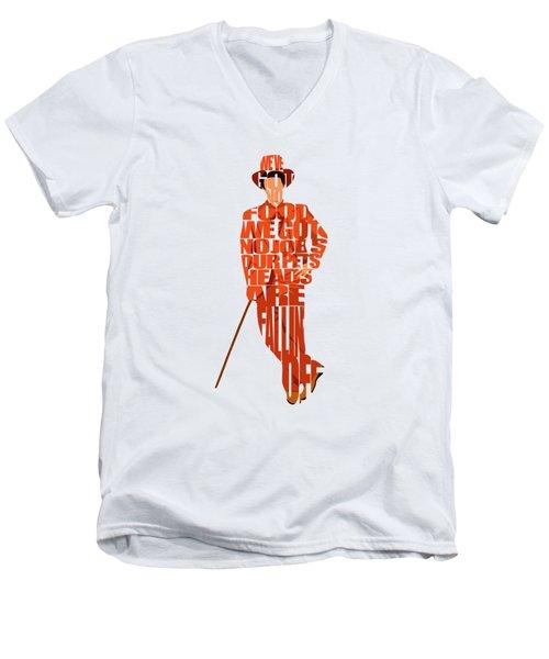 Lloyd Christmas Men's V-Neck T-Shirt by Ayse Deniz
