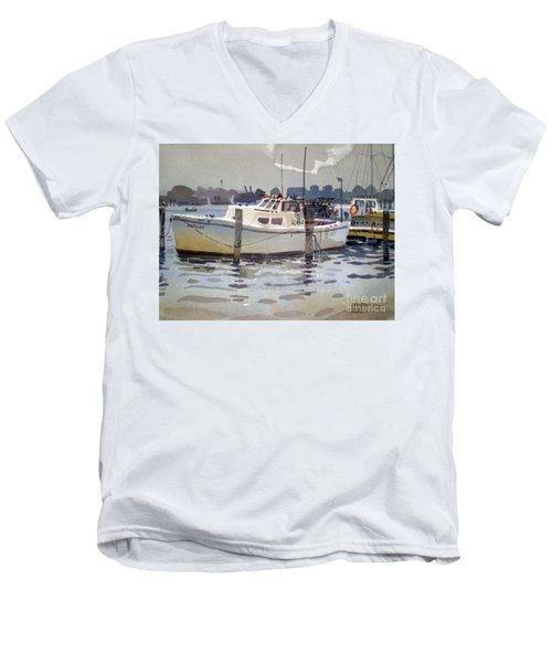 Lobster Boats In Shark River Men's V-Neck T-Shirt