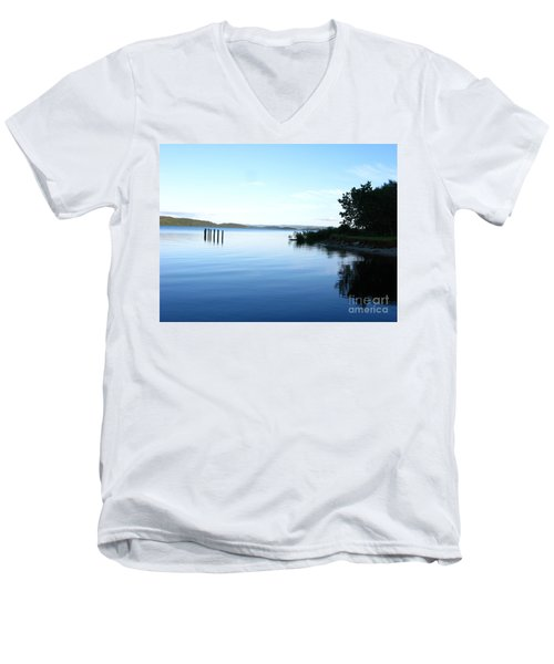 Loch Lomond Men's V-Neck T-Shirt by Mini Arora