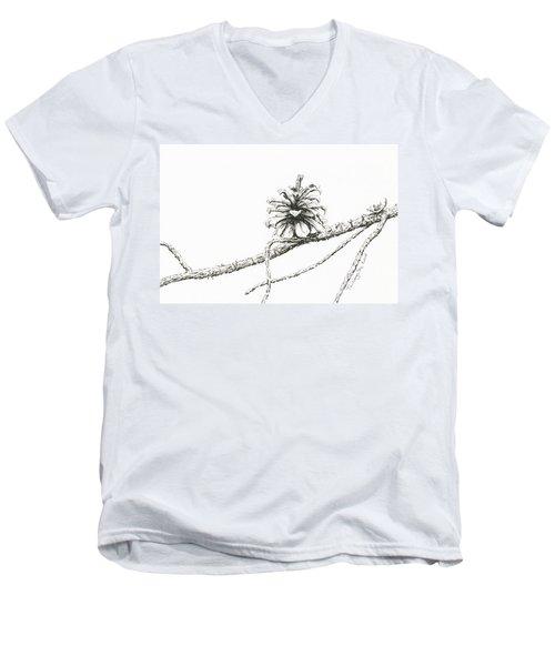 Lodgepole Pine Cone Men's V-Neck T-Shirt