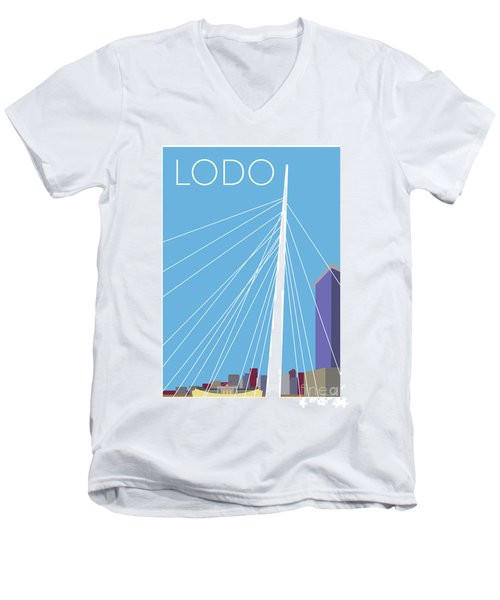 Lodo/blue Men's V-Neck T-Shirt