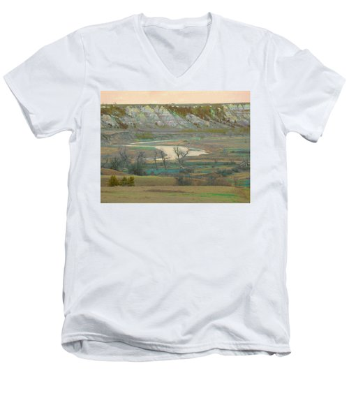 Logging Camp River Reverie Men's V-Neck T-Shirt