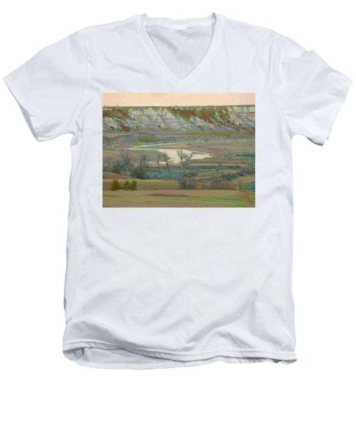 Logging Camp River Reverie Men's V-Neck T-Shirt