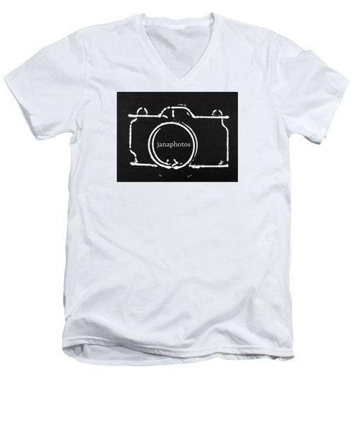 Logo Men's V-Neck T-Shirt by Jana Russon