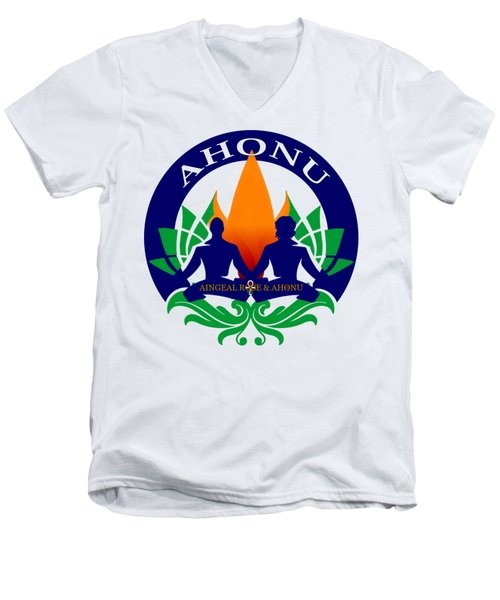 Logo Of Ahonu.com Men's V-Neck T-Shirt