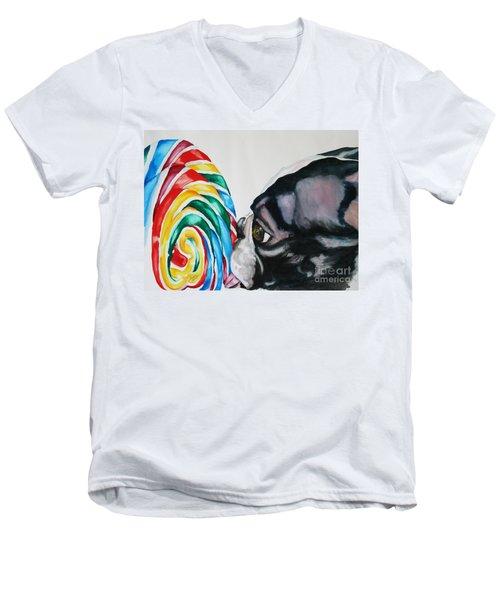 Lolli Pup Men's V-Neck T-Shirt