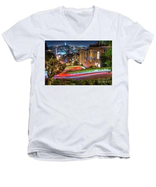 Lombard Street Men's V-Neck T-Shirt
