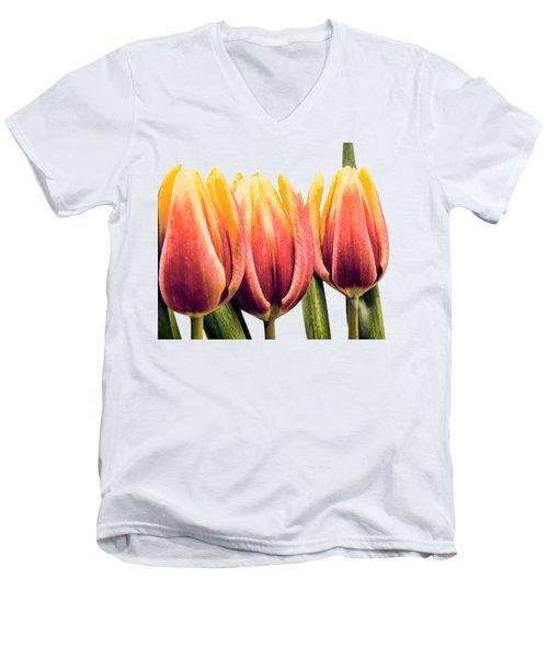 Lomo Tulips Men's V-Neck T-Shirt by Sebastien Coell