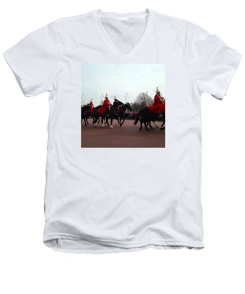 London Calling Men's V-Neck T-Shirt by Mihaela Raluca