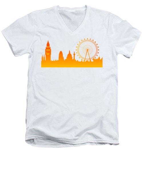 London City Skyline Men's V-Neck T-Shirt