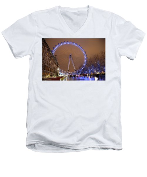 Men's V-Neck T-Shirt featuring the photograph Big Wheel by David Chandler