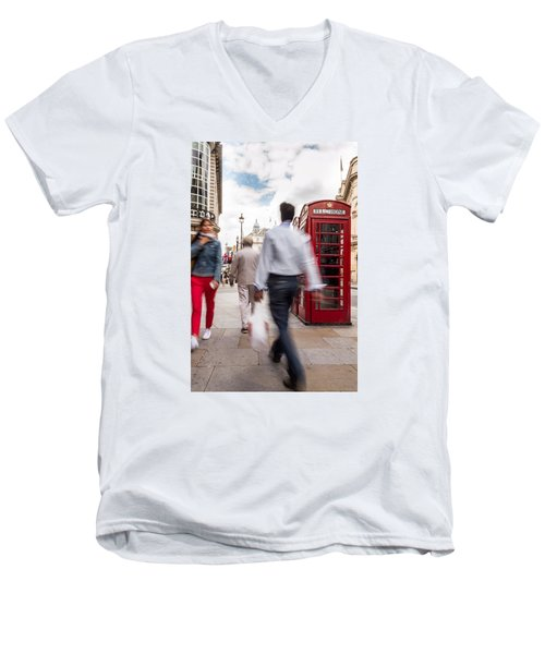 London In Motion Men's V-Neck T-Shirt