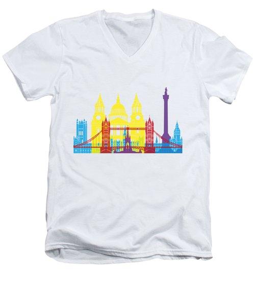 London Skyline Pop Men's V-Neck T-Shirt