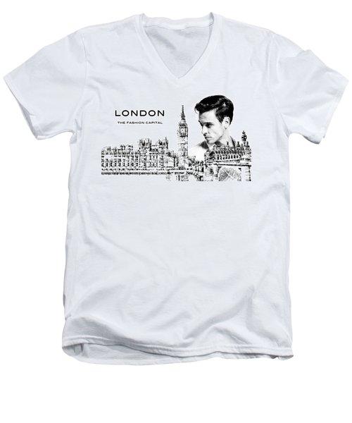 London The Fashion Capital Men's V-Neck T-Shirt