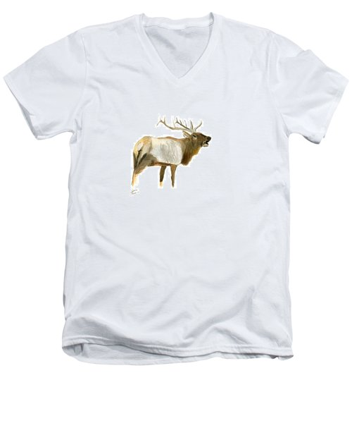 Lone Elk Men's V-Neck T-Shirt