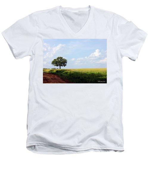 Lone Oak Men's V-Neck T-Shirt