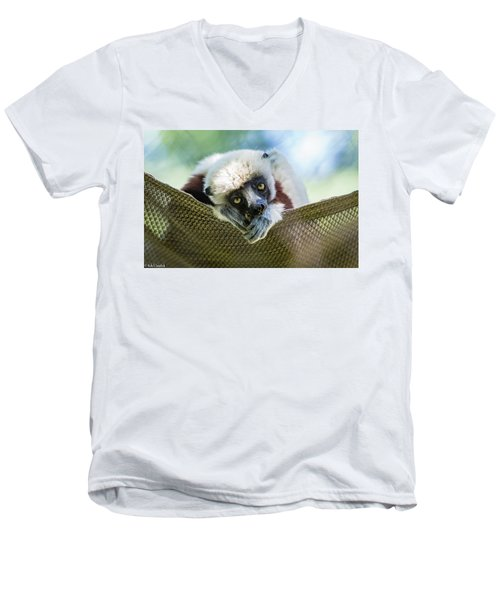 Lonely Lemur Men's V-Neck T-Shirt