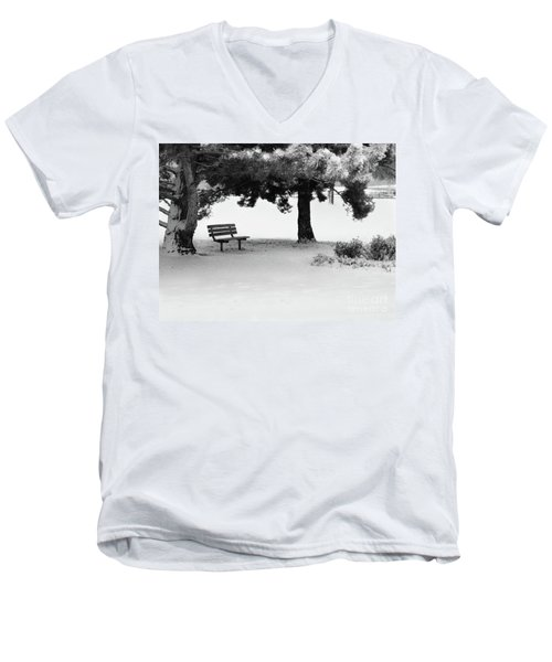 Lonely Park Bench Men's V-Neck T-Shirt