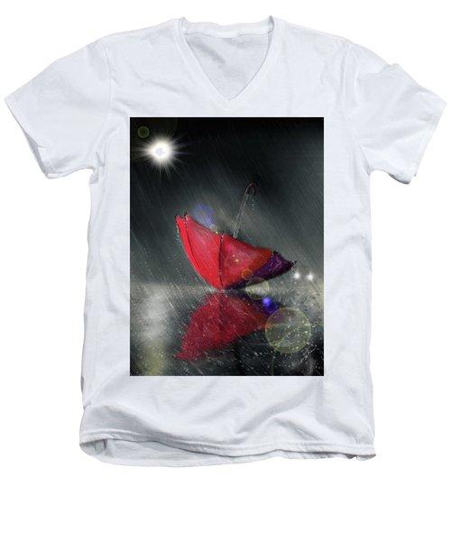 Lonely Umbrella Men's V-Neck T-Shirt