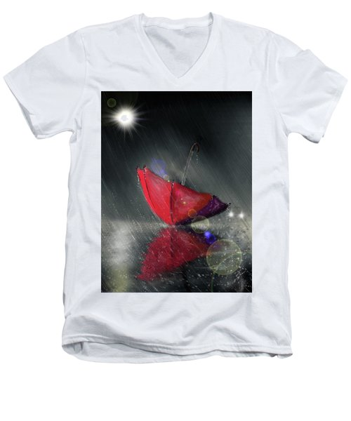 Lonely Umbrella Men's V-Neck T-Shirt