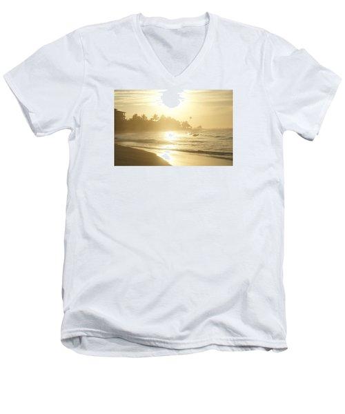 Long Beach Kogalla Men's V-Neck T-Shirt by Christian Zesewitz