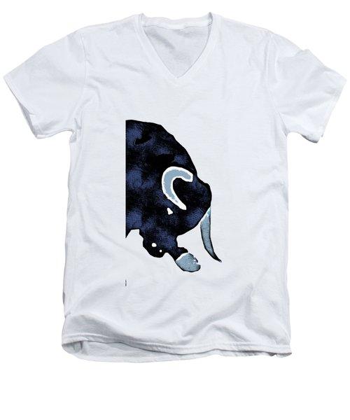 Long Horn Bull Phone Case Men's V-Neck T-Shirt by Edward Fielding