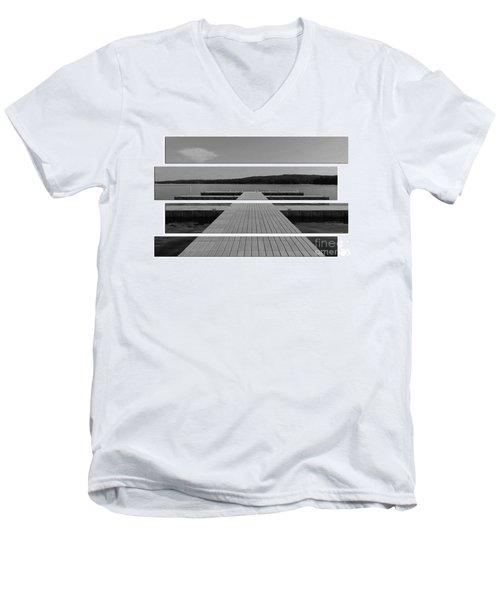 Long Lake Dock Men's V-Neck T-Shirt