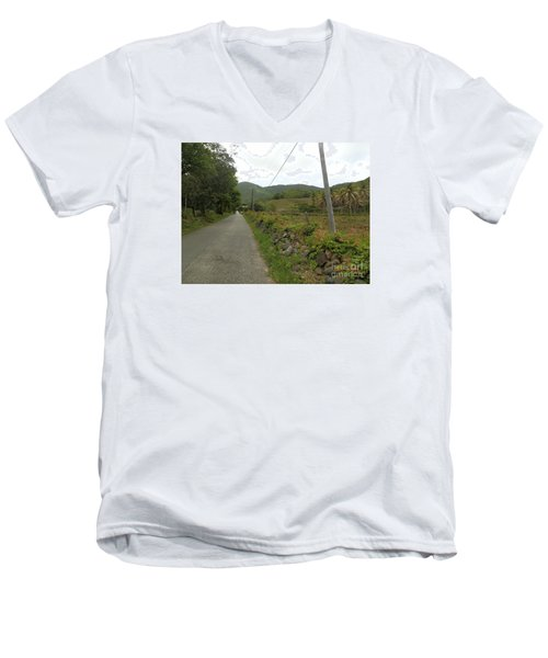 Long Road Into Colombier Men's V-Neck T-Shirt