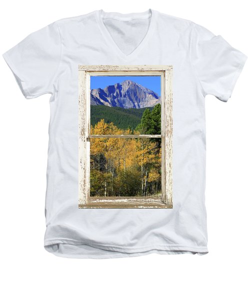 Longs Peak Window View Men's V-Neck T-Shirt