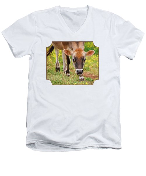 Look Into My Eyes - Painterly Men's V-Neck T-Shirt by Gill Billington