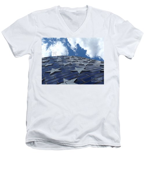 Lookig Up At The Stars And Blue Sky Men's V-Neck T-Shirt