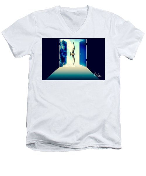Looking Through Men's V-Neck T-Shirt by Diana Riukas