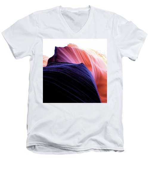 Men's V-Neck T-Shirt featuring the photograph Looking Up - Dark To Light by Stephen Holst