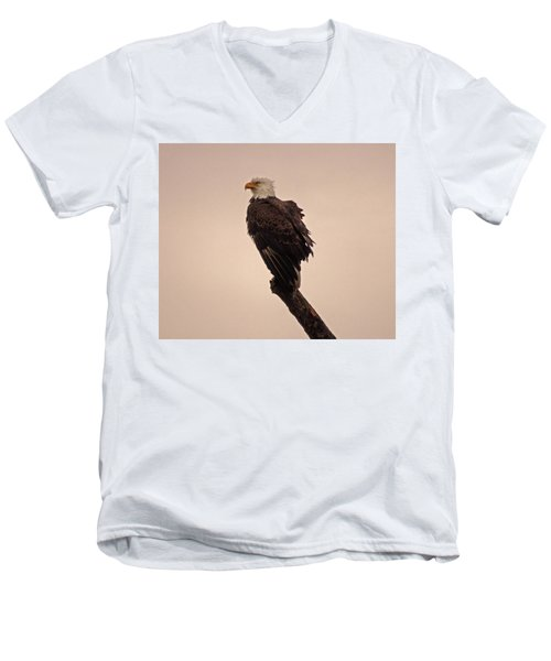 Men's V-Neck T-Shirt featuring the photograph Looks Like Reign by Robert Geary