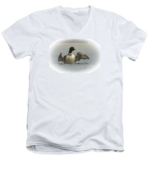 Loon 1 Men's V-Neck T-Shirt