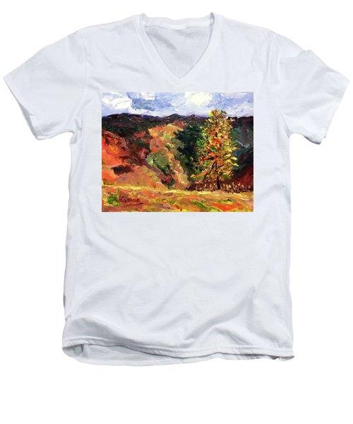 Loose Landscape Men's V-Neck T-Shirt by Janet Garcia