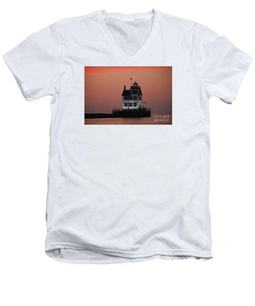 Lorain Lighthouse 1 Men's V-Neck T-Shirt