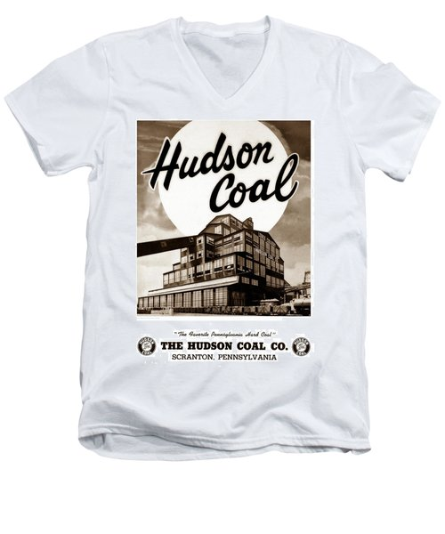 Loree Colliery Larksville Pa. Hudson Coal Co  Men's V-Neck T-Shirt