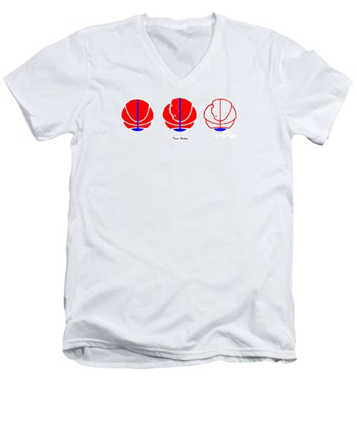 Men's V-Neck T-Shirt featuring the digital art Los Angeles Clippers Logo Redesign Contest by Tamir Barkan