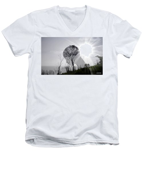 Lost Connection With Nature Men's V-Neck T-Shirt by Paulo Zerbato