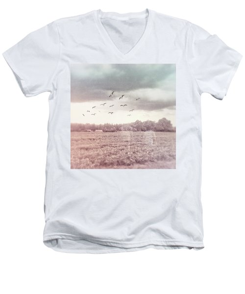 Lost In The Fields Of Time Men's V-Neck T-Shirt