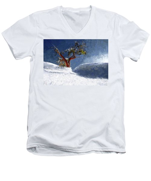 Lost In The Snow Men's V-Neck T-Shirt by Alex Galkin