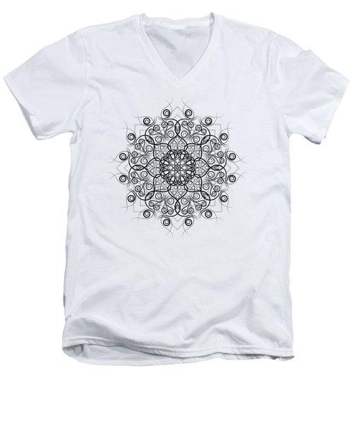 Lotus #1 Men's V-Neck T-Shirt