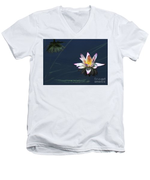 Lotus And Reflection Men's V-Neck T-Shirt