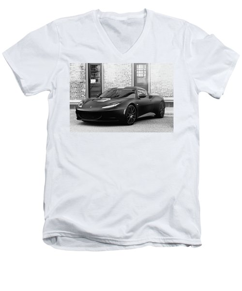 Men's V-Neck T-Shirt featuring the photograph Lotus Evora by Joel Witmeyer