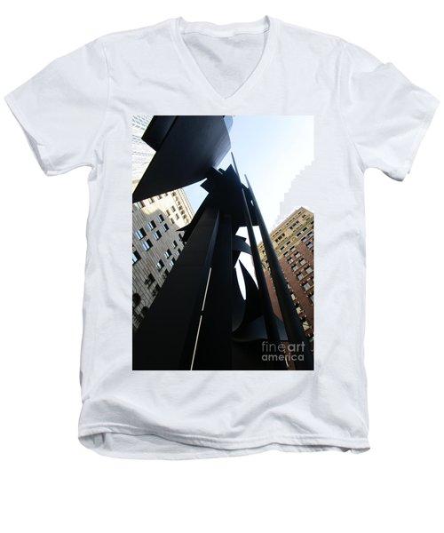 Louise Nevelson Plaza 1 Men's V-Neck T-Shirt