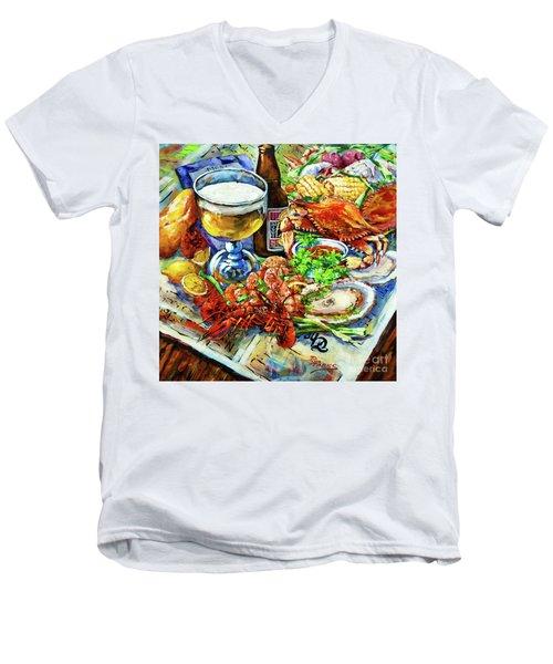 Louisiana 4 Seasons Men's V-Neck T-Shirt