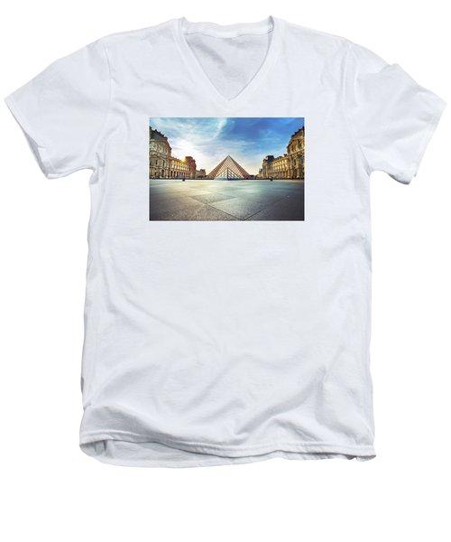 Louvre Museum Men's V-Neck T-Shirt by Ivan Vukelic