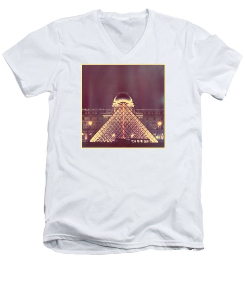 Louvre Palace And Pyramid Men's V-Neck T-Shirt