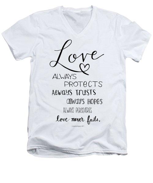 Love Always Men's V-Neck T-Shirt